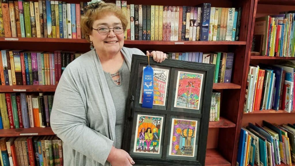 Local artist wins first place with Pumpkin Show Greeting Cards