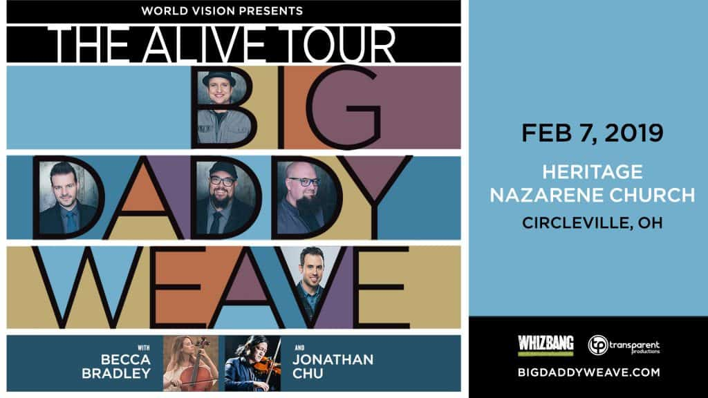 Big Daddy Weave is coming to Circleville