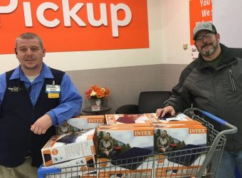 Walmart donating to Cold Weather Shelter in Chillicothe