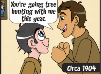 First Tree Hunt - Happy Circa - November 2018 Panel 1