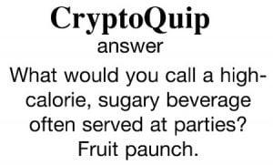 CryptoQuip January Solution