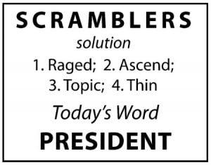 Scramblers January 2019