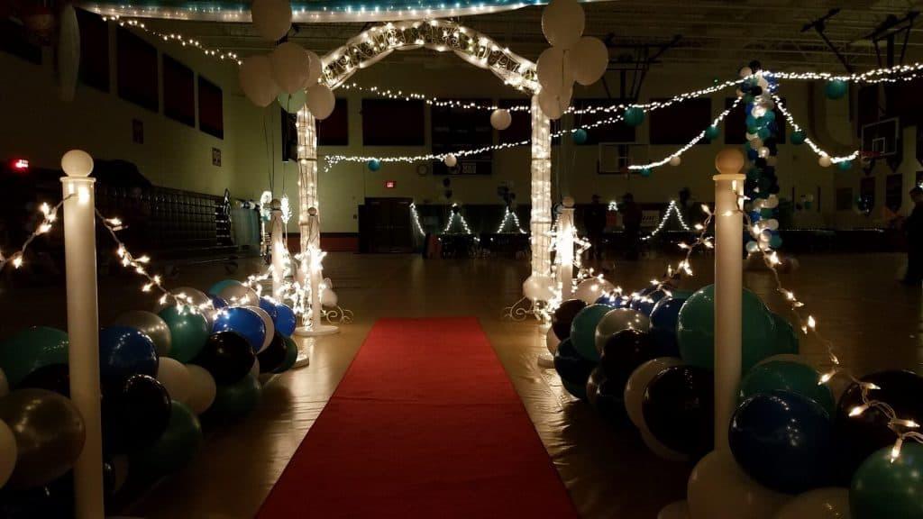 Red Carpet Walk Way to Dance Floor
