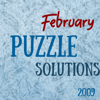 February 2019 Dimple Times Newspaper Puzzle Solutions