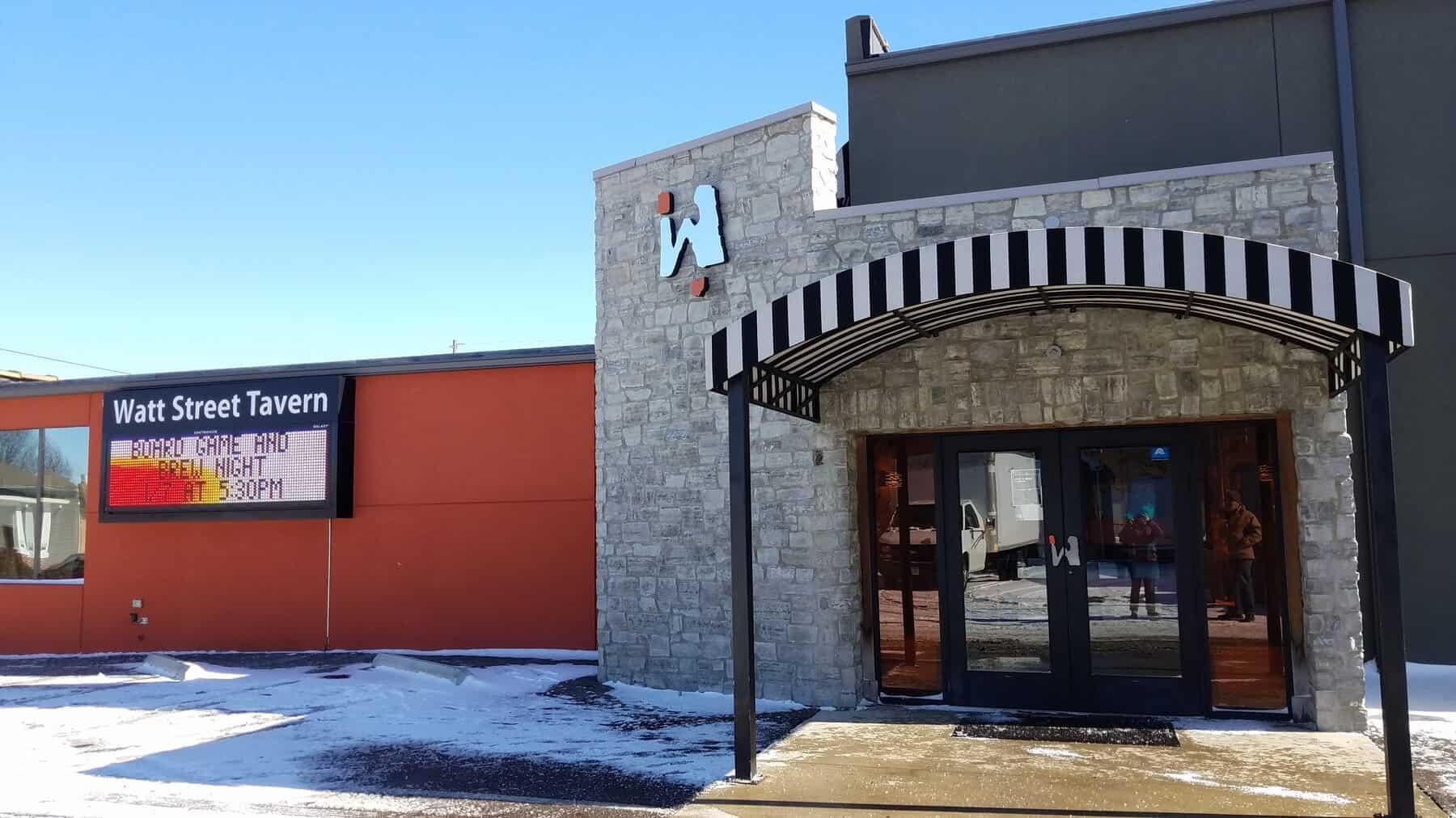 Watt Street Tavern in Downtown Circleville, Ohio