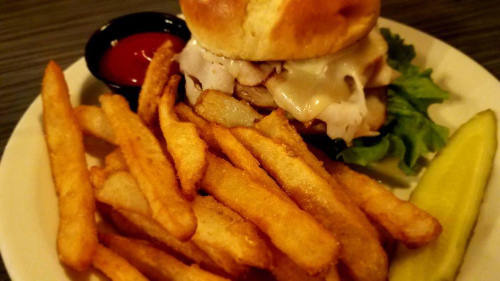Watt Street Tavern - Hot Stacks Sandwich with Fries