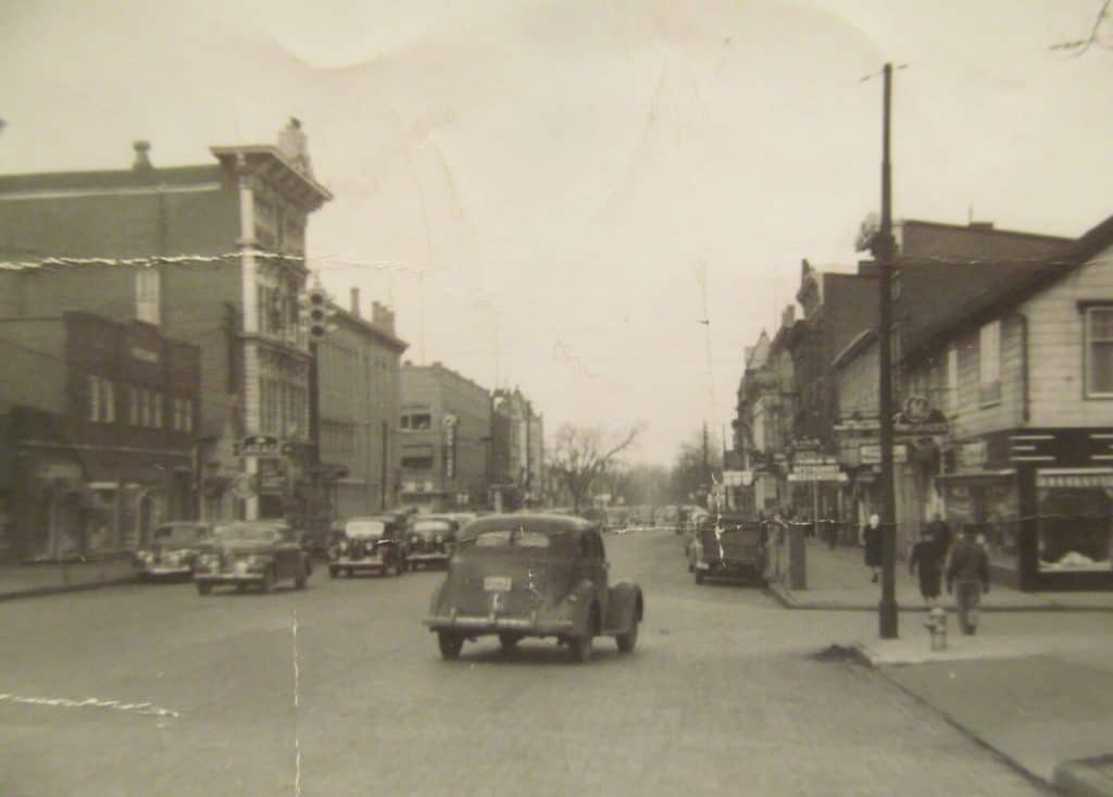 Downtown Circleville at the time
