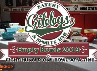 Empty Bowls Event at Gibbys Eatery and Sports Bar in Downtown Circleville Ohio