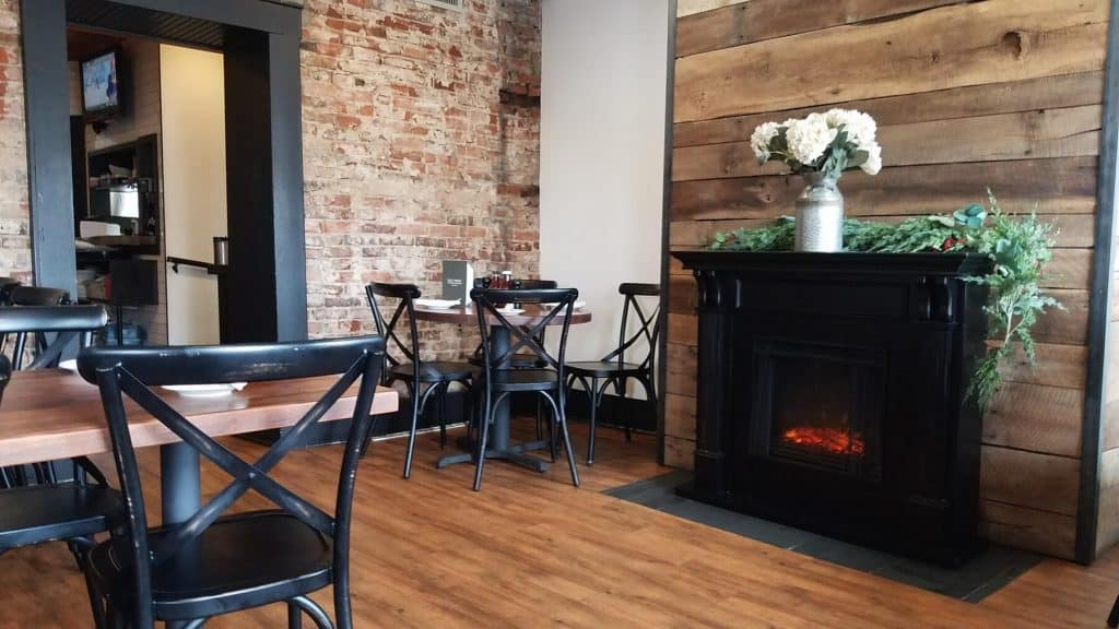 Old Canal Smoke House in Historic Downtown Chillicothe Ohio Indoor Dining Area