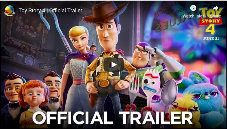 Trailer for Toy Story 4 released!