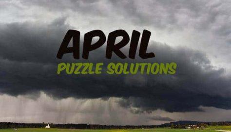 April Puzzle Solutions 2019
