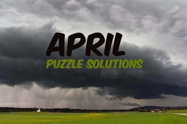April 2019 Dimple Times Newspaper Puzzle Solutions