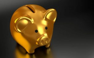 Emergency fund for business piggy-bank
