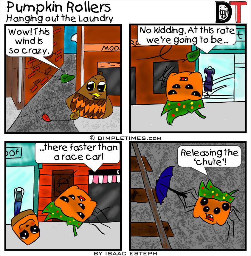 Pumpkin Roller Comic - Pumpkin Rollers - April 2019