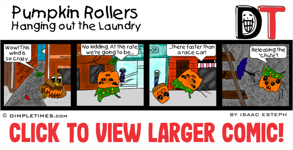 Pumpkin Rollers: Hanging out the Laundry - April 2019
