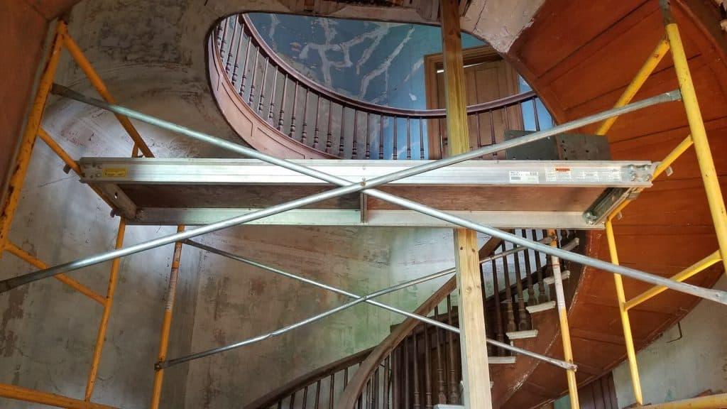 Spiral stairway inside Octagon House