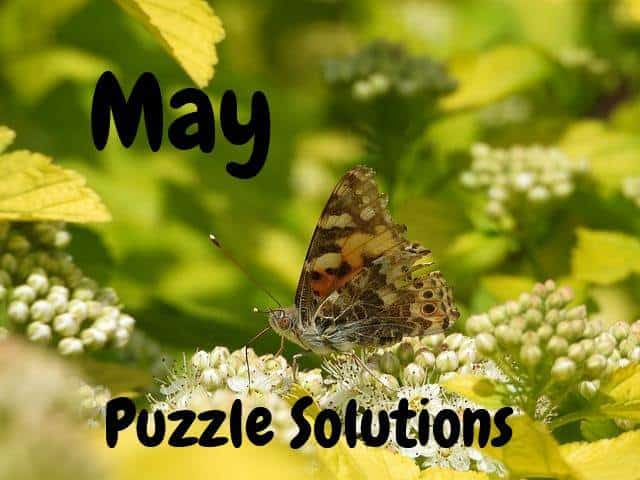May Puzzle Solutions 2019