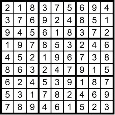 Sudoku Easy May 2019