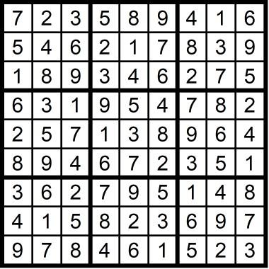 Sudoku Hard May 2019
