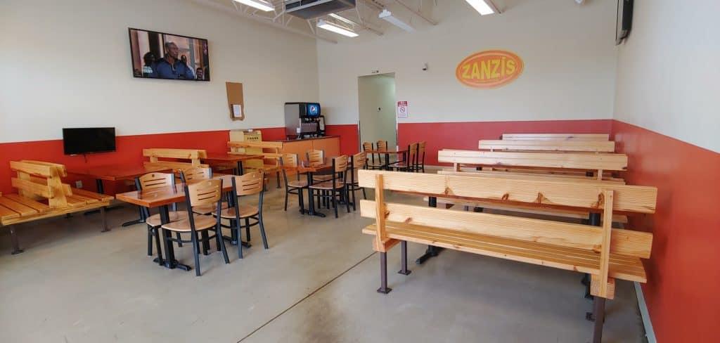 Zanzis Pizza Dining Area