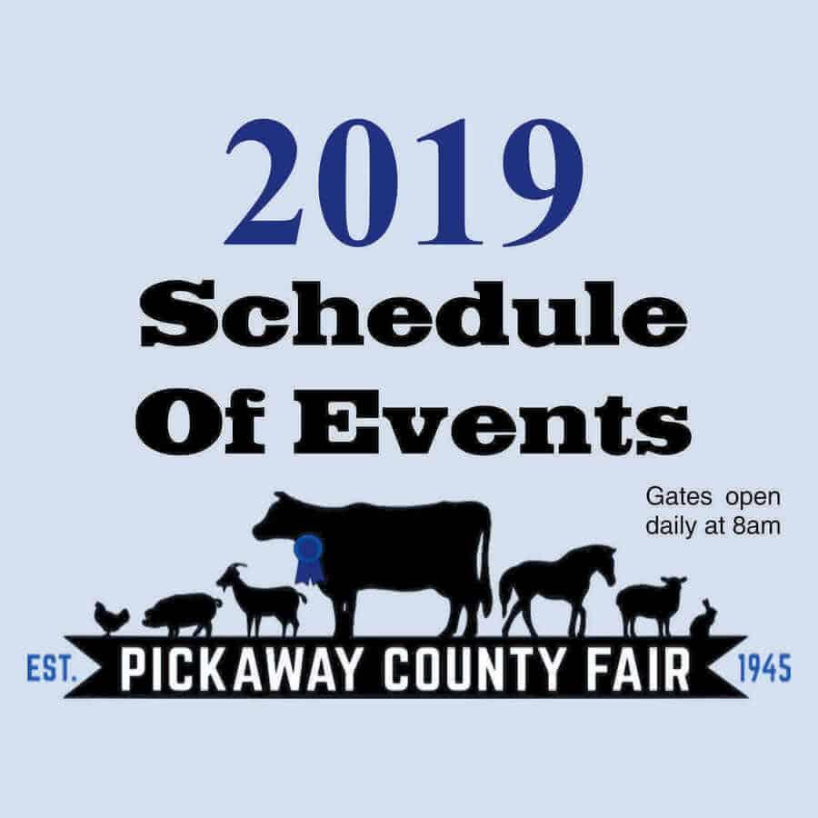 2019 Pickaway County Fair Schedule