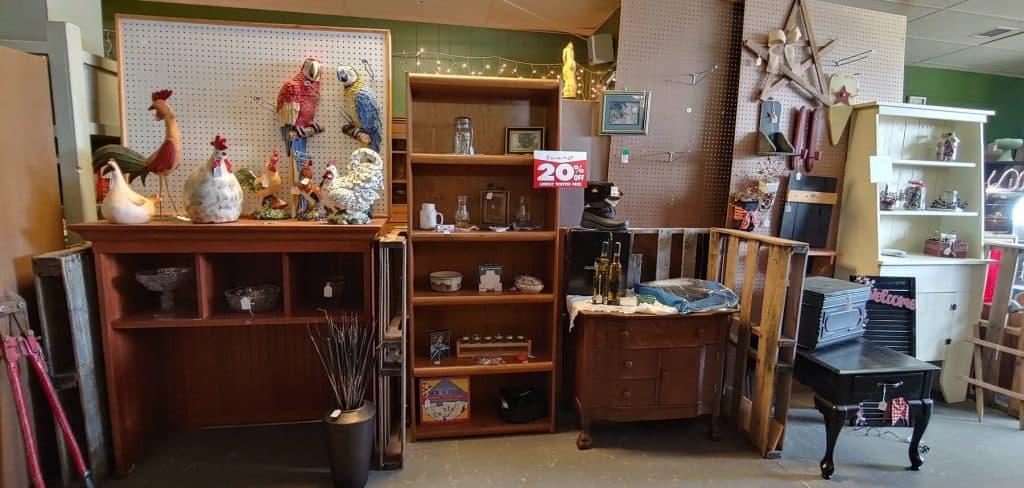 Vendor Booth inside Now & Then Shop