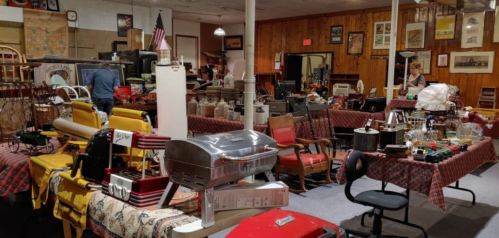 Auction Area inside Amanda Furniture, Antique, Craft Mall and Auction House