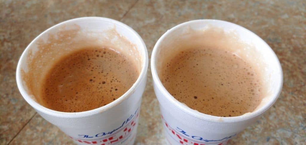 Crispie Creme Donuts White Mocha and French Vanilla Cappuccino
