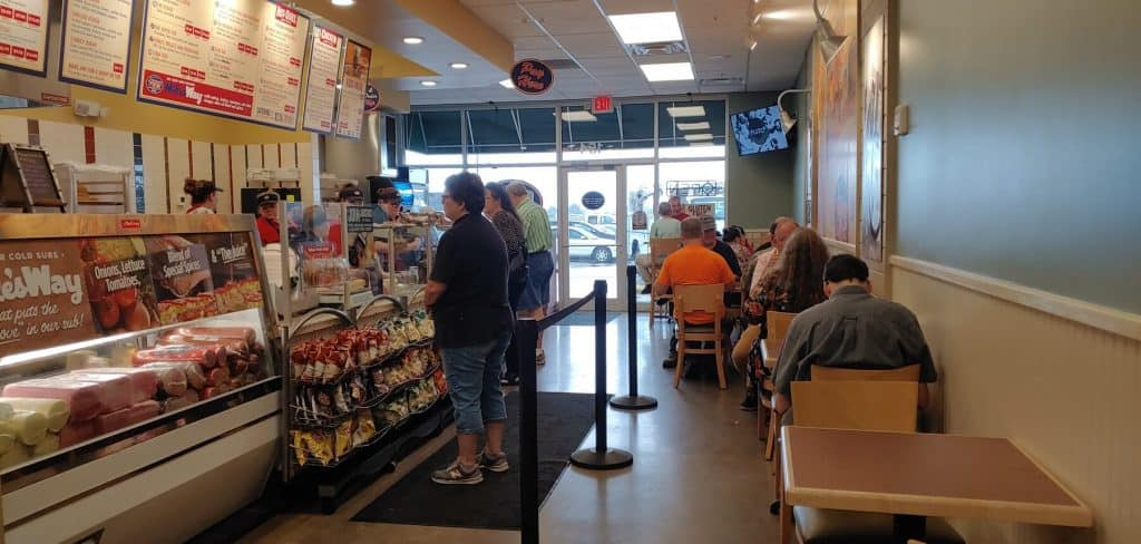 Jersey Mike's Dining Area