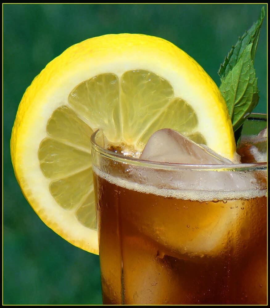 Mint tea from the herb garden