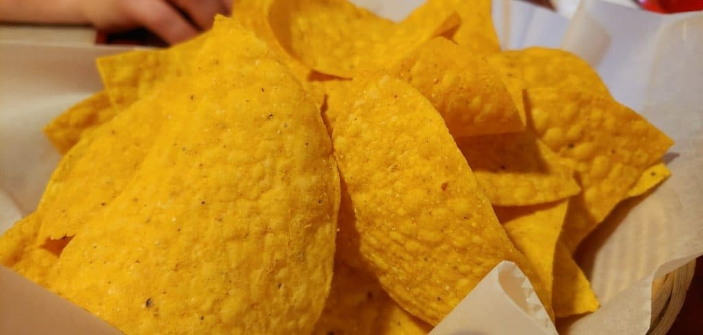Chips from El Palomar Mexican Restaurant