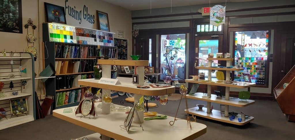 Retail Area inside Bernie and Max's Stained Glass Studio
