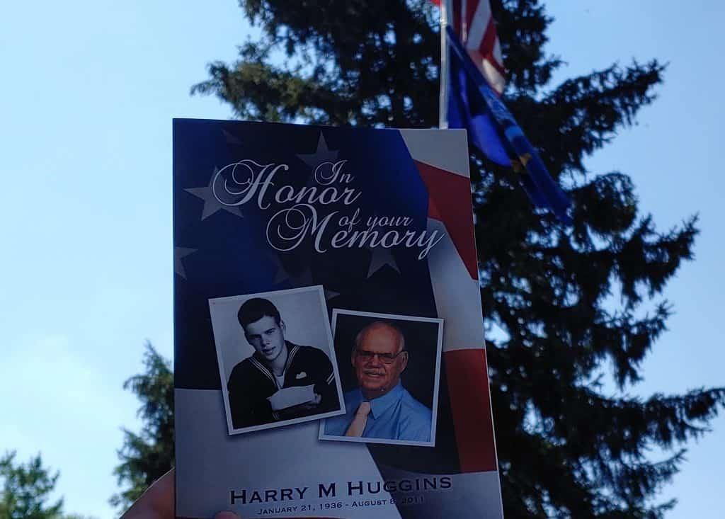 Harry M. Huggins Memorial Service