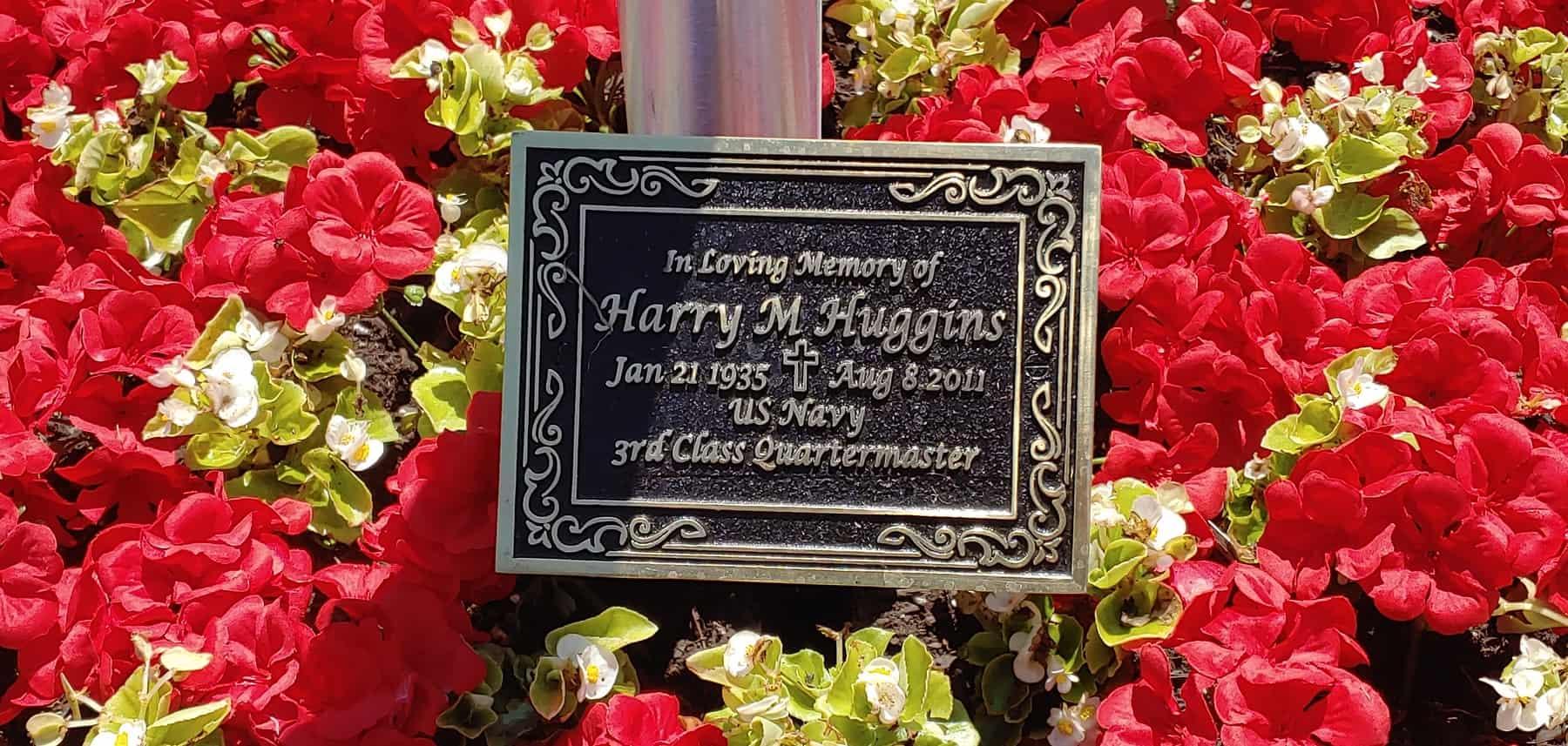 Harry M Huggins Plaque Dedication