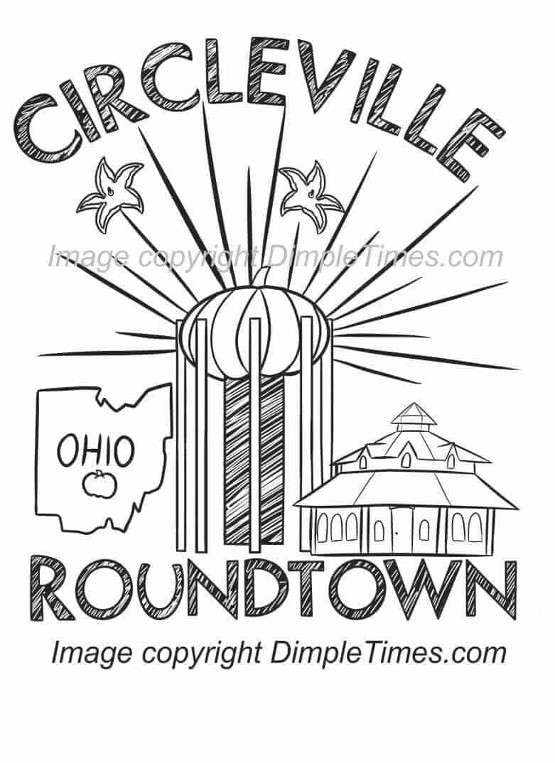 Circleville Roundtown Montage T-Shirt - Orange