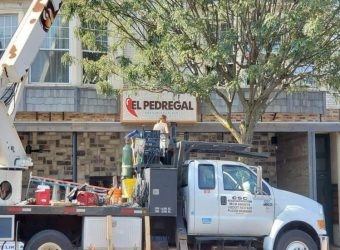 El Pedregal gets new outdoor sign installed