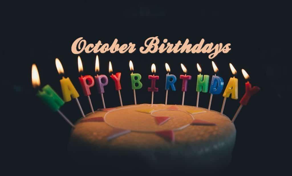October Birthdays – 2019