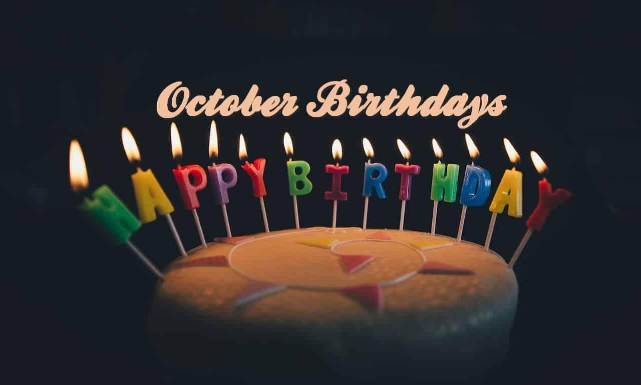 Happy Birthday - October