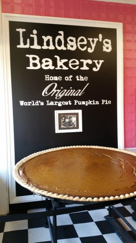 Lindsey's giant pumpkin pie