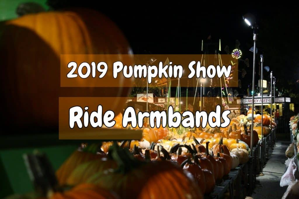 Ride armbands on sale for 2019 Pumpkin Show