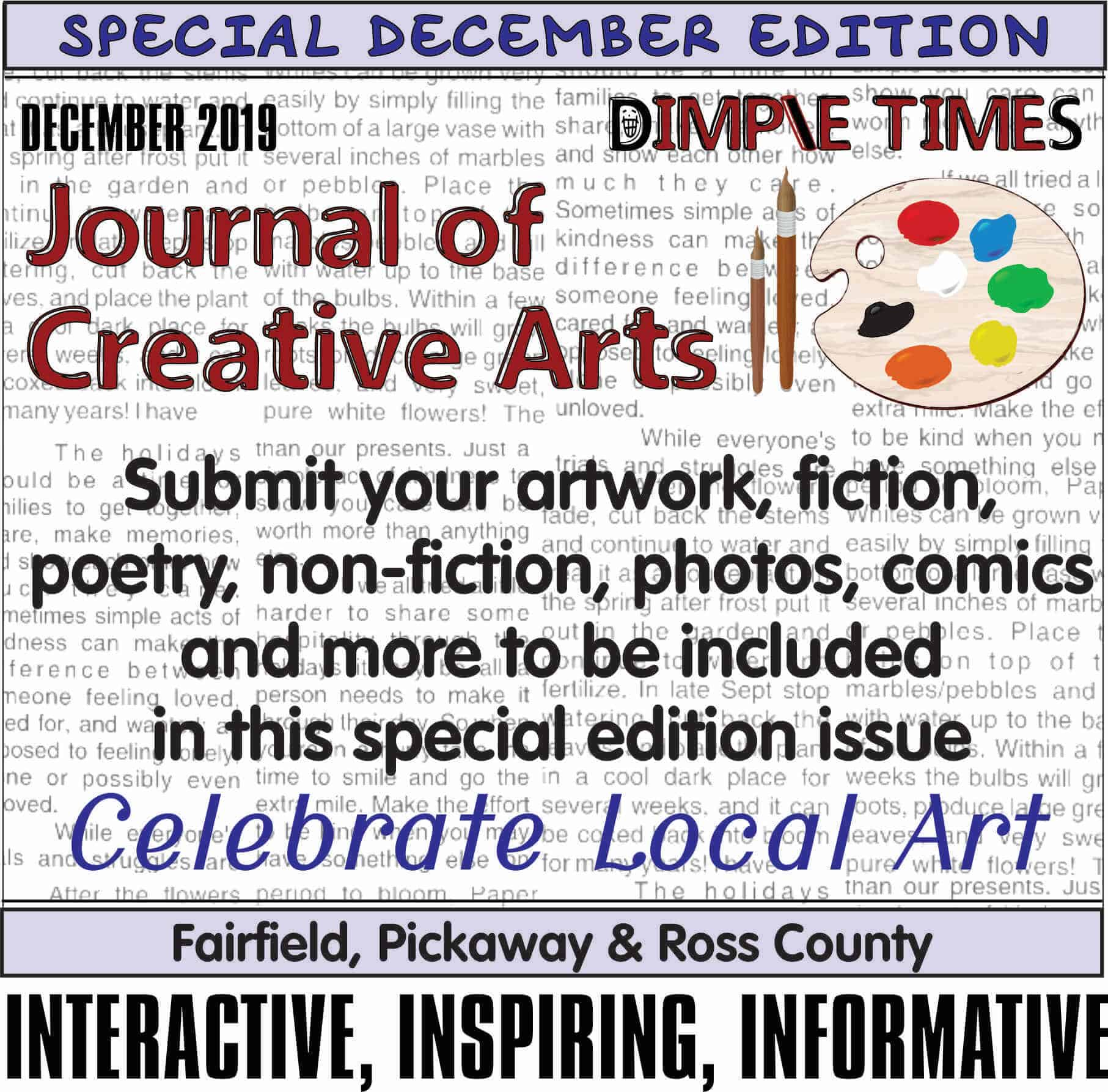 Submit art for Journal of Creative Arts 2019