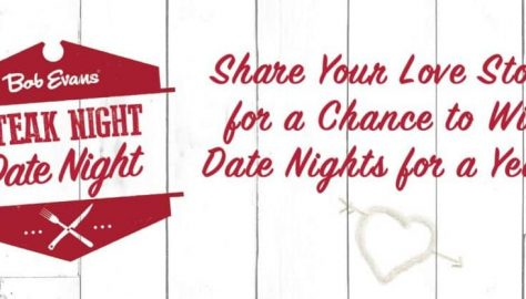 Bob Evans chance for date night for a year