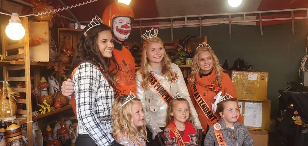 Miss Pumpkin Show Court and Little Miss Court experience being queens for a day