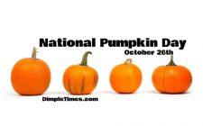 National Pumpkin Day 2019