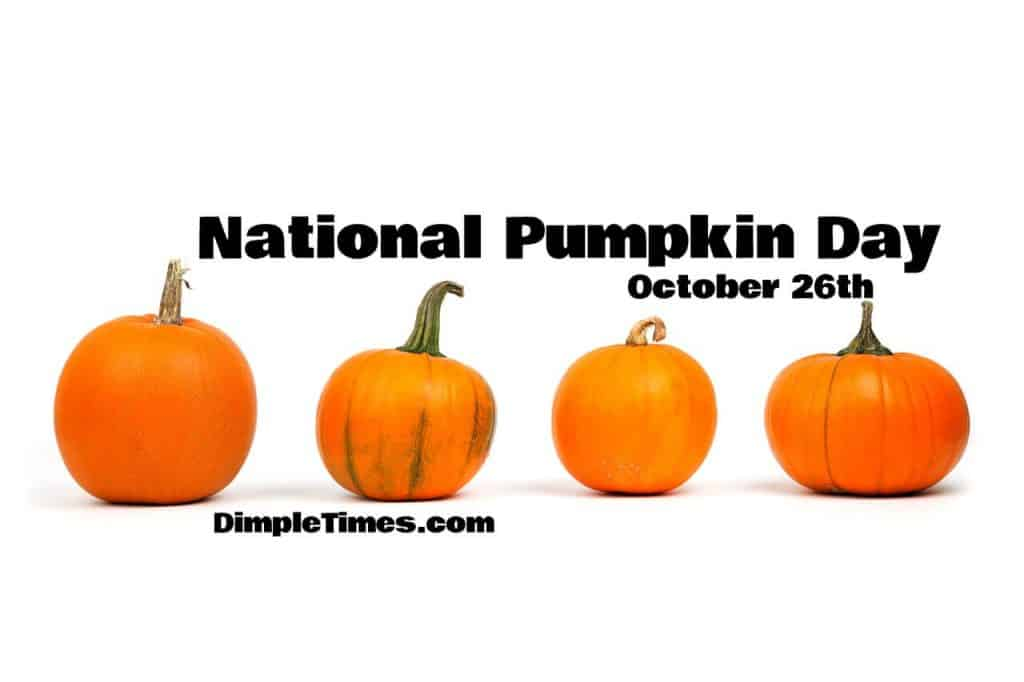 October 26th is National Pumpkin Day!