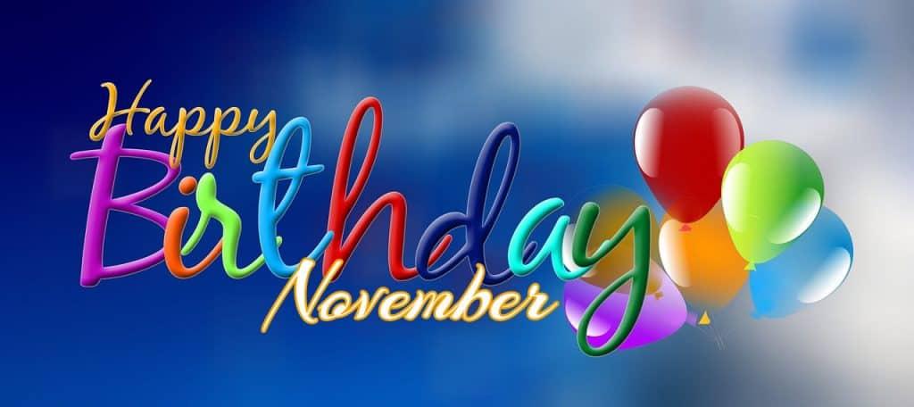 November Birthdays – 2019