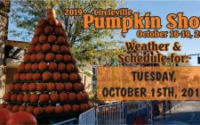 Pumpkin Show schedule and weather for October 15-2019