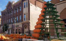 Pumpkin Tower Set Up for the 2019 Circleville Pumpkin Show