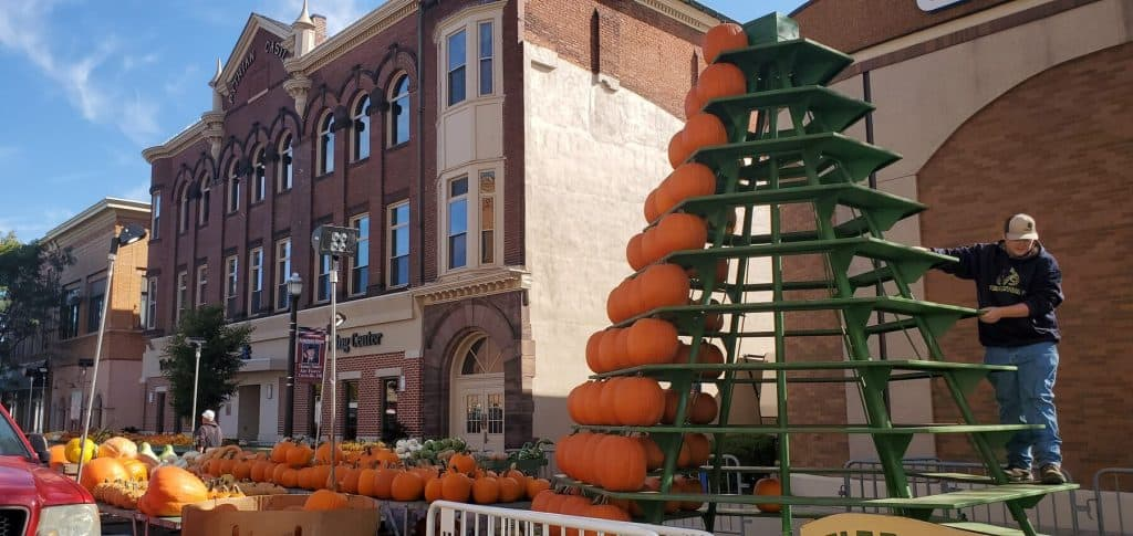 Set up underway for the 2019 Circleville Pumpkin Show
