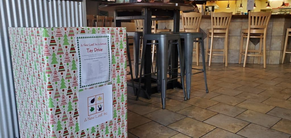 Donation Box at Gibbys Eatery and Sports Bar